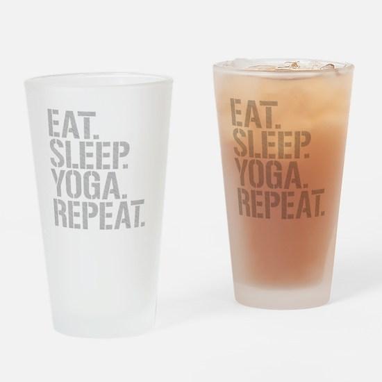 Eat Sleep Yoga Repeat Drinking Glass