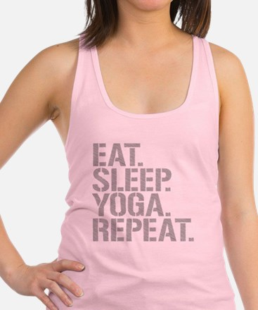 Eat Sleep Yoga Repeat Racerback Tank Top