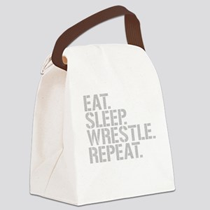 Eat Sleep Wrestle Repeat Canvas Lunch Bag