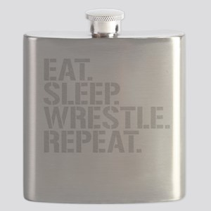 Eat Sleep Wrestle Repeat Flask