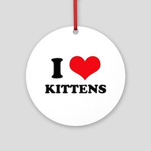 I Heart Kittens Ornament (Round)
