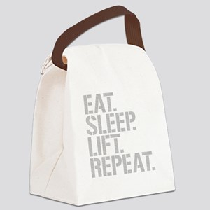 Eat Sleep Lift Repeat Canvas Lunch Bag