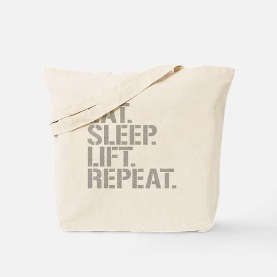 Eat Sleep Lift Repeat Tote Bag