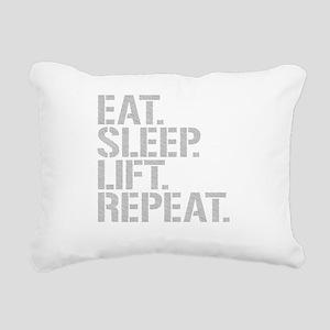 Eat Sleep Lift Repeat Rectangular Canvas Pillow