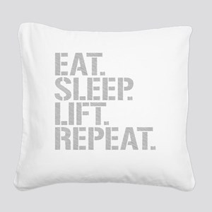 Eat Sleep Lift Repeat Square Canvas Pillow
