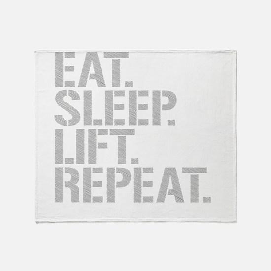 Eat Sleep Lift Repeat Throw Blanket