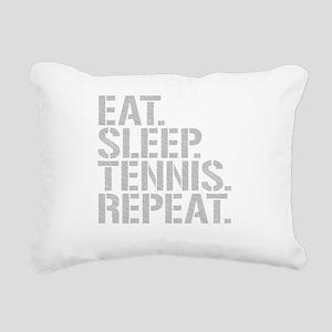 Eat Sleep Tennis Repeat Rectangular Canvas Pillow