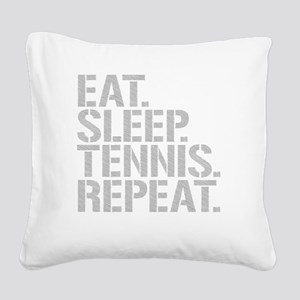 Eat Sleep Tennis Repeat Square Canvas Pillow