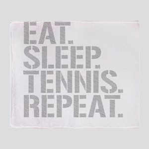 Eat Sleep Tennis Repeat Throw Blanket