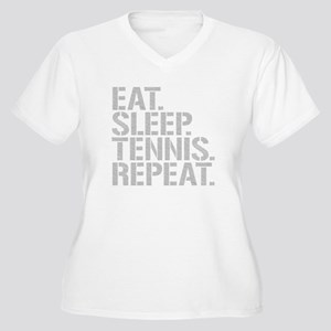 Eat Sleep Tennis Repeat Plus Size T-Shirt
