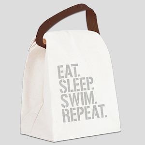 Eat Sleep Swim Repeat Canvas Lunch Bag