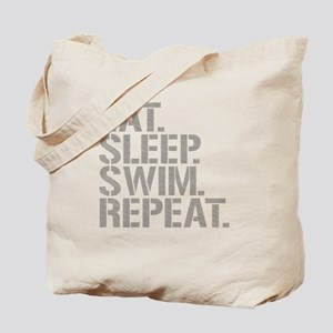 Eat Sleep Swim Repeat Tote Bag