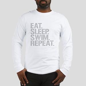 Eat Sleep Swim Repeat Long Sleeve T-Shirt