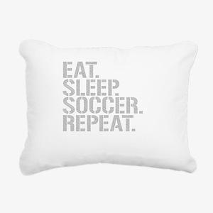 Eat Sleep Soccer Repeat Rectangular Canvas Pillow