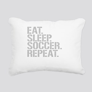 Eat Sleep Soccer Repeat Rectangular Canvas Pillow
