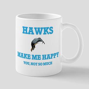 Hawks Make Me Happy Mugs