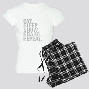 Eat Sleep Snowboard Repeat Pajamas