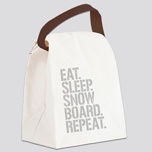 Eat Sleep Snowboard Repeat Canvas Lunch Bag