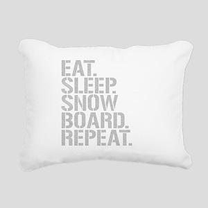 Eat Sleep Snowboard Repeat Rectangular Canvas Pill