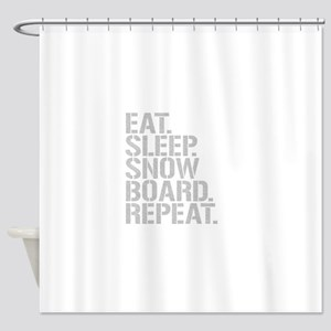 Eat Sleep Snowboard Repeat Shower Curtain