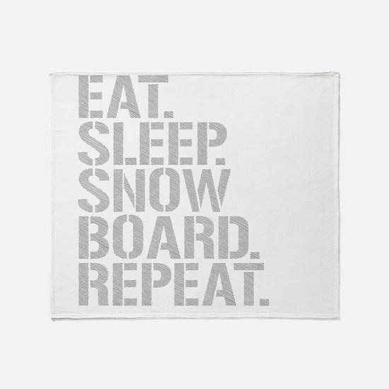 Eat Sleep Snowboard Repeat Throw Blanket