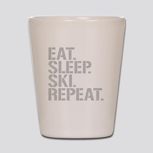 Eat Sleep Ski Repeat Shot Glass