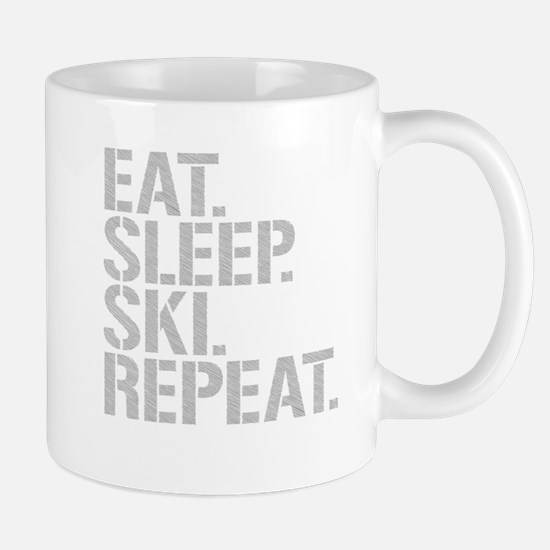 Eat Sleep Ski Repeat Mugs