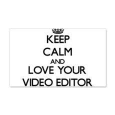 Keep Calm and Love your Video Editor Wall Decal