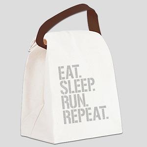 Eat Sleep Run Repeat Canvas Lunch Bag