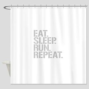 Eat Sleep Run Repeat Shower Curtain