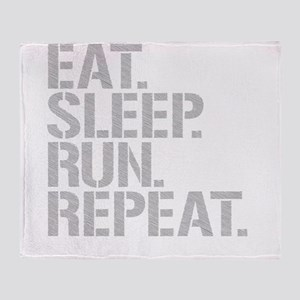 Eat Sleep Run Repeat Throw Blanket