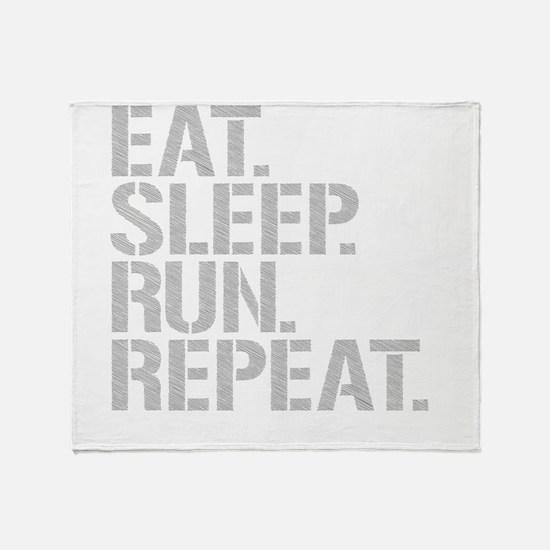 Eat Sleep Run Repeat Throw Blanket