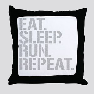Eat Sleep Run Repeat Throw Pillow