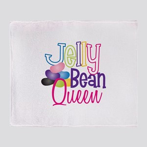 Jelly Bean Queen Throw Blanket