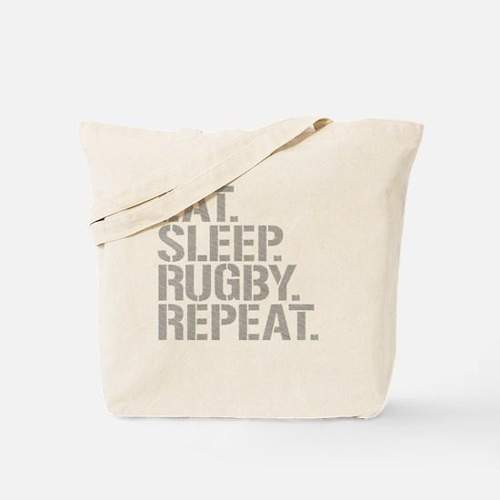 Eat Sleep Rugby Repeat Tote Bag