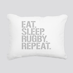 Eat Sleep Rugby Repeat Rectangular Canvas Pillow
