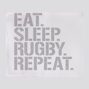Eat Sleep Rugby Repeat Throw Blanket