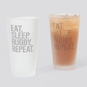Eat Sleep Rugby Repeat Drinking Glass