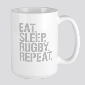 Eat Sleep Rugby Repeat Mugs