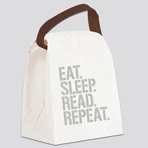 Eat Sleep Read Repeat Canvas Lunch Bag