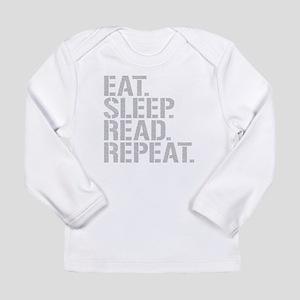 Eat Sleep Read Repeat Long Sleeve T-Shirt