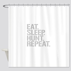 Eat Sleep Hunt Repeat Shower Curtain