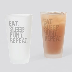 Eat Sleep Hunt Repeat Drinking Glass