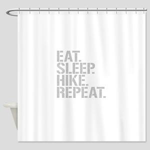Eat Sleep Hike Repeat Shower Curtain