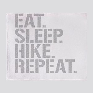 Eat Sleep Hike Repeat Throw Blanket