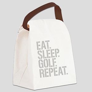Eat Sleep Golf Repeat Canvas Lunch Bag
