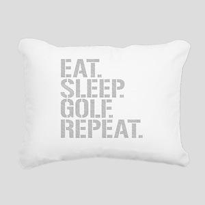 Eat Sleep Golf Repeat Rectangular Canvas Pillow