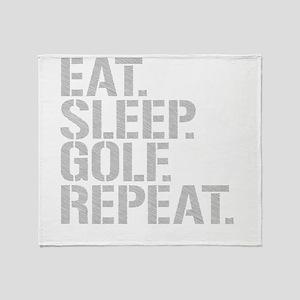 Eat Sleep Golf Repeat Throw Blanket