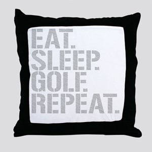 Eat Sleep Golf Repeat Throw Pillow