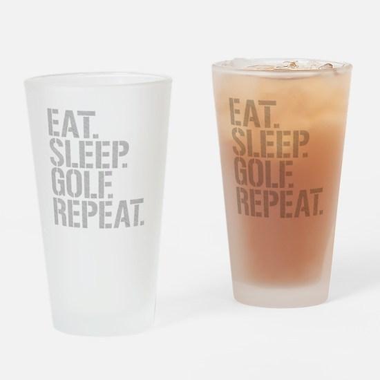 Eat Sleep Golf Repeat Drinking Glass